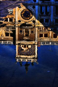 Reflections of Venice, Italy- The Clock Tower, Piazza San Marco.
