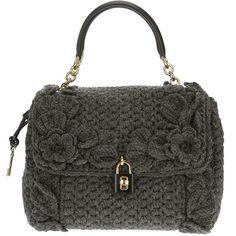 DOLCE & GABBANA 'Dolce' knitted shoulder bag ($2,600) found on Polyvore