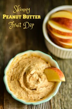 Skinny Peanut Butter Fruit Dip Recipe is easy to make and tastes great. It takes just two simple ingredients and you will have yourself a delicious and nutritious snack to dip with fruit or eat by the spoonful!  via @Just 2 Sisters