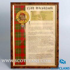 MacGregor Clan Crest History Print