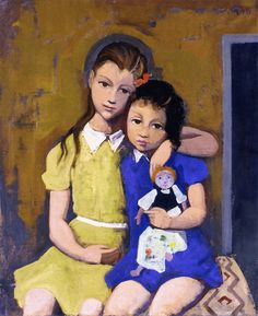 Karl Hofer - Two Girls with a Doll                                                                                                                                                                                 More
