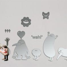 Sticker Miroir Wah Geneviève Gauckler