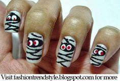 Halloween DIY Easy Nail Design Video Tutorial - follow FYB for more tips!!