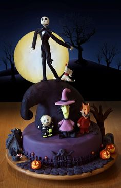 Nightmare Before Christmas Cake Ideas