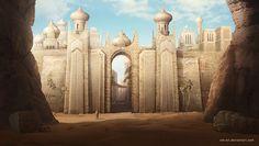 Desert city by NM-art.deviantart.com on @DeviantArt