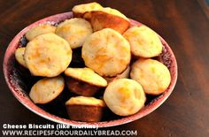 Cheese Biscuits-Muffin-Recipe. These biscuits are a copy cat from Jim N Nick BBQ. Light and Delicious!! http://recipesforourdailybread.com/2013/03/08/cheese-biscuits-like-cheese-muffin-recipe-pictures/  #bread, #quick bread #cheese bread