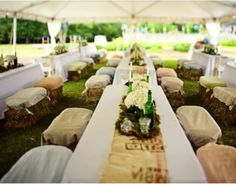 Hay bales For Wedding Seating