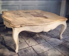 Rustic Shabby Chic Coffee Table by antiquitiess on Etsy