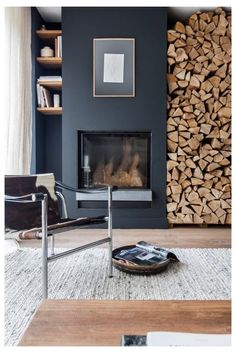 24 Chic Living Room Designs to Inspire is part of - Every room has a focal point, and the proper antique can turn into the focus of your room, permitting you to build around it so it is showcased Grey Fireplace, Home Fireplace, Living Room With Fireplace, Fireplace Design, Fireplace Ideas, Small Living Rooms, Living Room Modern, Home Living Room, Nordic Living Room