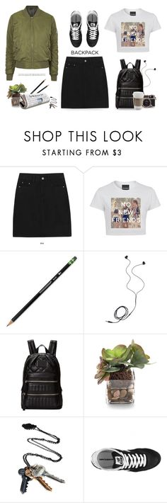 """""""Back to school- backpack"""" by yexyka ❤ liked on Polyvore featuring Dixon Ticonderoga, Diane Von Furstenberg, Marc by Marc Jacobs, John-Richard, Cullen, Stolen Girlfriends Club, New Balance, Topshop and BackToSchool"""