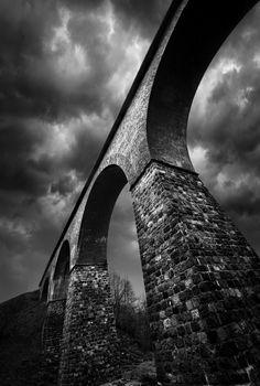 """"""" Bridge by lukaszde B&W,Bridge,Buszkowo """""""