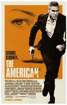 The American Movie George Clooney Movie Poster 11x17