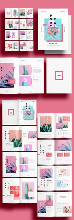 Mise en page Portfolio Design Layouts, Indesign Portfolio, Graphic Portfolio, Graphic Design Layouts, Adobe Portfolio Examples, Graphic Design Portfolios, Booklet Design Layout, Template Portfolio, Page Layout Design