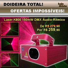 OFERTA! Laser Vermelho Verde 150mW DMX Áudio-Rítmico K800 Big Dipper: De R$ 279,90 Por apenas R$ 259,90 em http://www.aririu.com.br/k800-laser-big-dipper-vermelho-verde-150mw-dmx-bivolt-audio_90xJM