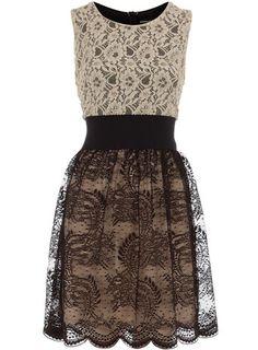 {Black mix and match lace dress} Unique...