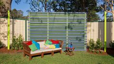 How to make a decorative fabric fence landscape fabric Yahoo better homes and gardens