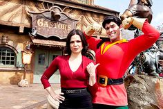 Lana & Gaston at Disney's Fantasy Land - once-upon-a-time Photo