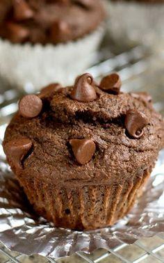 Under 200 Calorie Double Fudge Muffins