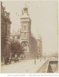 Paris 1901. Palais de Justice : quai de l'Horloge (Atget)