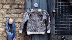 Sweater med færøsk mønster og raglan