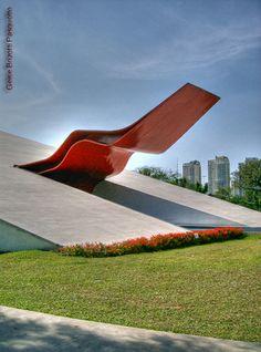 Ibirapuera Auditorium designed by Oscar Niemeyer, São Paulo, Brazil (built 2002-2005)