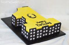 batman First Birthday cake (Cake Boy Batman)