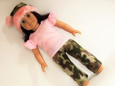 Camo and Pink Hunting Party Outfit for Dolls Like by something2do