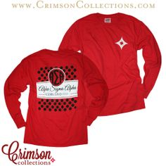 Awesome new classic Alpha Sigma Alpha red long sleeve! Now available at Crimson Collections!!
