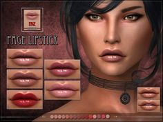 PAGE Lipstick by RemusSirion at TSR • Sims 4 Updates