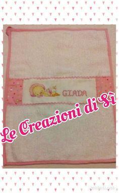 Asciughino realizzato per Sarah - Sassari (SS) - Visita la mia pagina facebook Le Creazioni di Sì