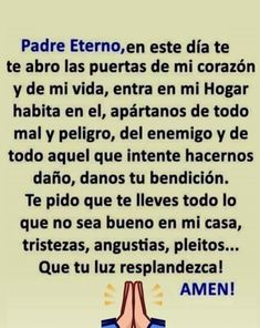 Morning Greetings Quotes, Good Morning Quotes, Catholic Prayers In Spanish, I Love You Animation, Good Night Prayer, Everyday Prayers, Catholic Religion, God Prayer, Mother Quotes