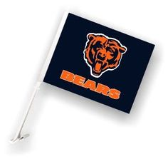 2 Sided Logo Car Flag - Chicago Bears