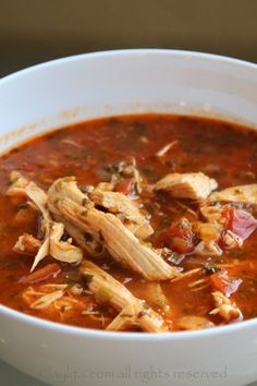 Spicy turkey or chicken tortilla soup