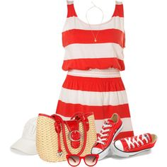 Red Sneakers by daiscat on Polyvore featuring moda, Converse, Brighton, Lara Bohinc, True Religion and Equipment