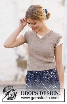 Ravelry: Minimalist pattern by DROPS design Knitting Stitches, Knitting Patterns Free, Knit Patterns, Free Knitting, Drops Design, Crochet Woman, Knit Crochet, Minimalist Pattern, Knit Vest Pattern