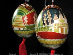 Ukrainian Easter Egg Pysanky 03-232  from the Lviv Region on AllThingsUkrainian.com