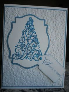 Sparkly blue Christmas by yellowrose46 - Cards and Paper Crafts at Splitcoaststampers