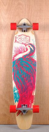 "Stella Prebuilt 42"" Kicktail Crane Longboard Complete Bottom"