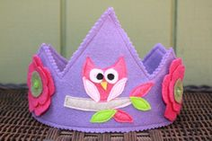 Owl on Tree Branch Felt Crown by TheLazyOwl on Etsy, $16.00