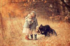 Приказни фотографии на близостта между деца и животни   High View Art