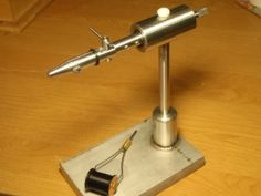 Homemade rotary vise featuring a dual-bearing system. Fly Tying Vises, Fly Tying Tools, Fly Fishing Equipment, Homemade Tools, Tool Organization, Fishing Lures, Rotary, Metal Working, Miniatures