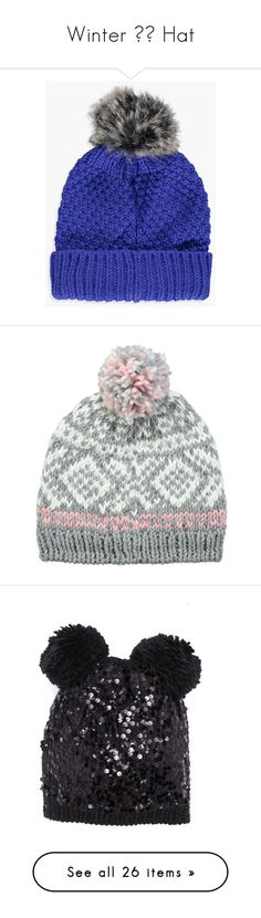 """""""Winter ❄️ Hat"""" by izzystarsparkle ❤ liked on Polyvore featuring accessories, hats, cable hat, chunky cable knit hat, beanie caps, cable knit beanie, fake fur hats, beanie ski hats, print hats and beanie cap hat"""