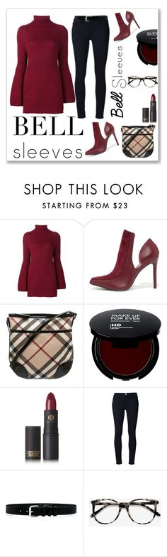 """""""No. 275. BellSleeves Contest"""" by closetfabulous ❤ liked on Polyvore featuring Rosetta Getty, Penny Loves Kenny, Burberry, Lipstick Queen, Frame Denim, IRO, Ace and bellsleeves"""