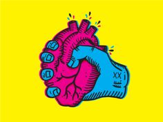 CMYK Heart designed by Caio Nery Filho. Heart Illustration, Graphic Illustration, Heart Graphics, Mixed Signals, Alphabet Book, Love Design, Graphic Design Inspiration, My Drawings, Vivid Colors