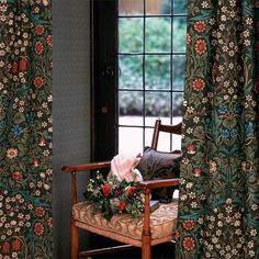 Blackthorn designed for wallpaper by J.H. Dearle in 1892 was first adapted for machine printed fabric in 1975 by Sanderson and became hugely