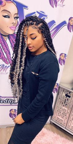 60e3a92f7669c we have found on social media latest 24 ways to do messy goddess box braids  hairstyles ponytails for sexy black African American women and girls to  copy in ...