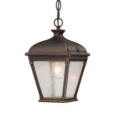Hampton Bay Malford Dark Rubbed Bronze Outdoor Hanging Lantern-23084 - The Home Depot