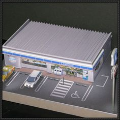 Simple Convenience Store For Diorama Free Building Paper Model Download