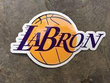 53dea4fdd91 LeBron James LABRON LA Los Angeles Lakers Sticker Decal FREE SHIPPING!