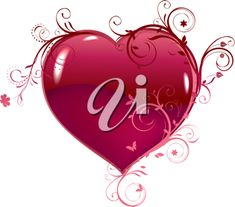 iCLIPART - Beautiful heart for design. Vector.